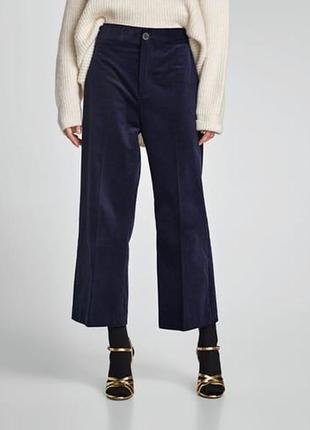 Вельветовые брюки широкие кюлоты от zara,p. l
