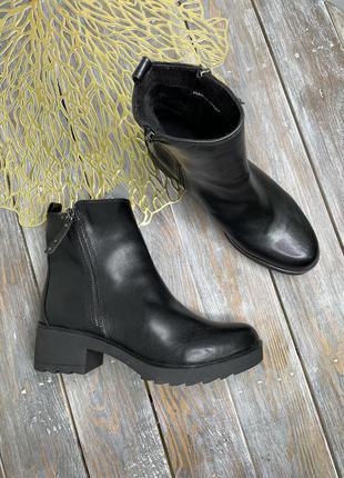 Marco tozzi кожаные ботинки на платформе полусапоги