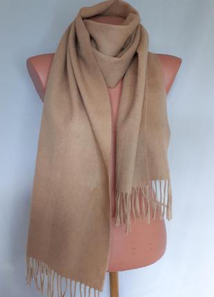 Кашемировый шарф цвета карамель( 32 см на 165 см)