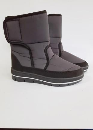 Зимние ботинки на меху женские дутики сапоги