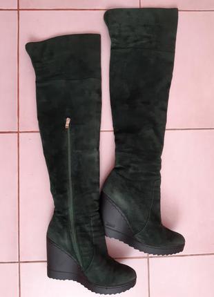 Ботфорти,чоботи високі зимові