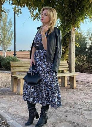 Платье из натуральной ткани zara
