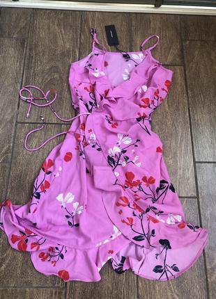 Новое летнее платье с бирками легкое с поясом с запахом vero moda