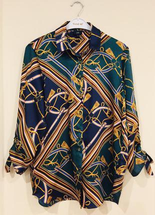 Шикарная рубашка в стиле hermes
