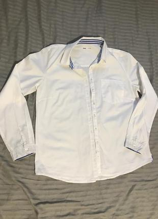 Белая рубашка овер сайз