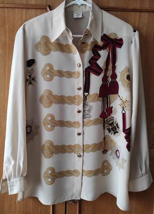Винтажная блуза, рубашка klein petit paris, премиум , р.38
