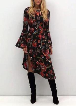 Распродажа платье vero moda миди с расклешенными рукавами asos