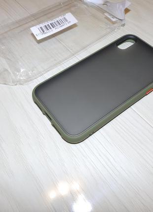 Чехол накладка goospery case для iphone xr матовый с цветными кнопками