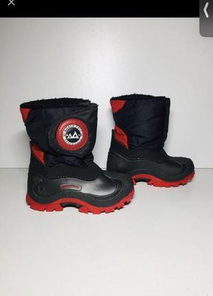 Зимние ботинки сноубутсы сапоги сапожки на мальчика девочку 23 размер