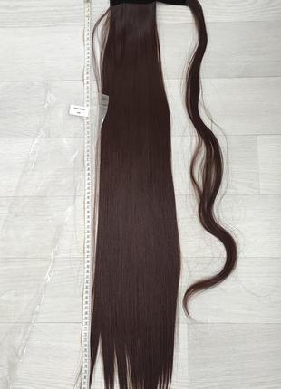 Хвост 85см, оттенок 4, искусственные волосы ,трессы,шиньон