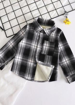 Тёплая рубашка для мальчиков