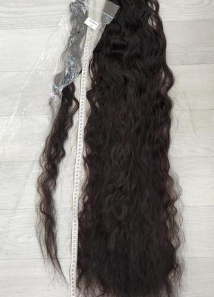 Хвост 85см, оттенок 2, волнистые искусственные волосы, трессы, шиньон