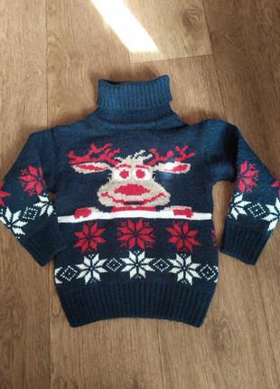 Тёплый свитер на возразт 1-2 лет