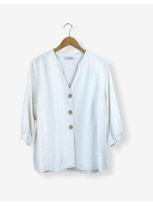 Топ блуза в полоску tu! вискоза+хлопок+лен!