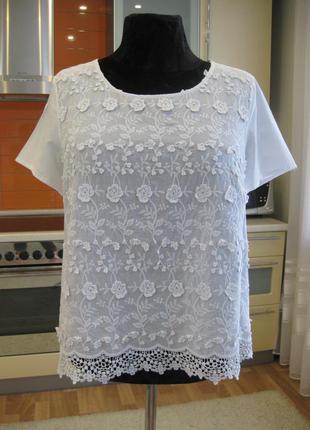 Лёгкая натуральная блуза, прошва !!!