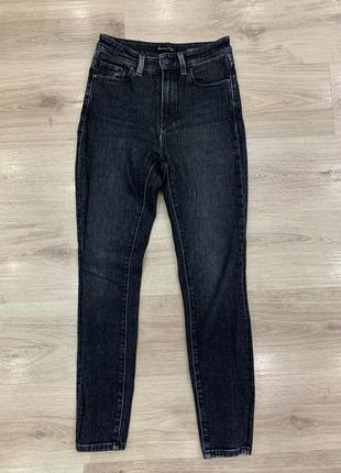 Чёрные джинсы skinny со стразами по бокам massimo dutti