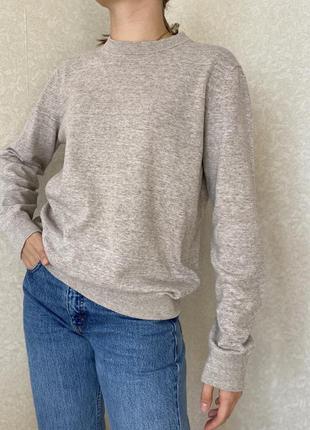 Базовый бежевый джемпер , котоновый свитер