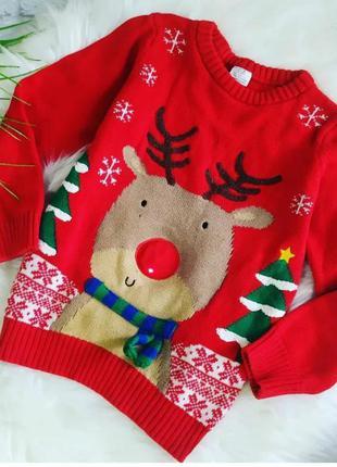 Новогодний свитер р.110 см
