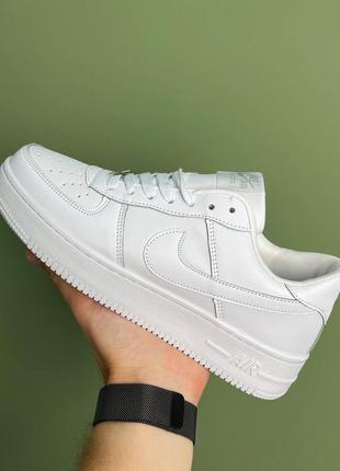 Новые белые кроссовки nike air force whire найк эир форс женские