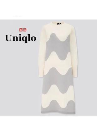 Женское вязаное платье uniqlo