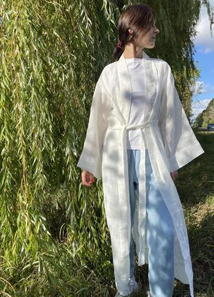 Кимоно- платье 100% лён