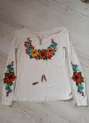 Вышиванка с длинным рукавом из трикотажа