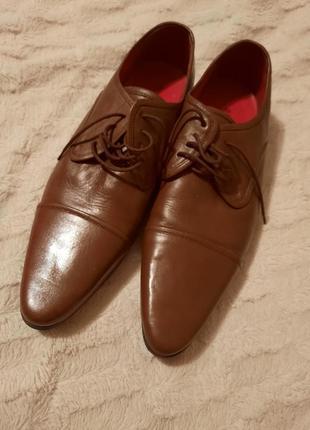 Большие туфли оксфорды кожа claudio conti p.46-47