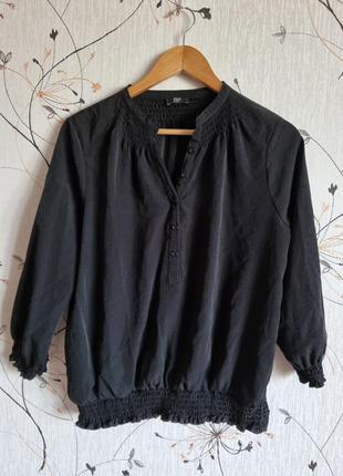 Женская блузка, черный блузон,
