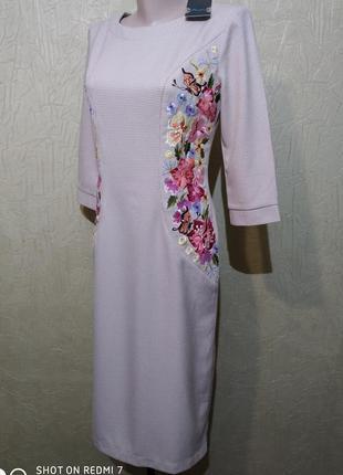 Raslov, платье вышиванка, платье с вышивкой.