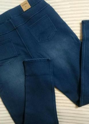 Джеггинсы джинсы теплые велюр-мех