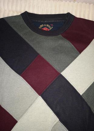 Джемпер свитер в ромбы большой размер