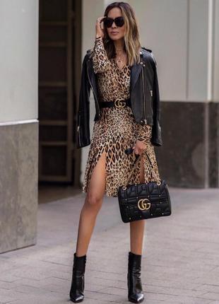 Платье в леопардовый принт на осень,тренд