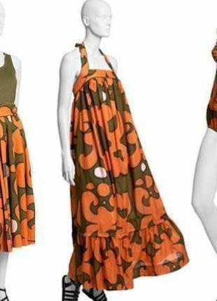 Marimekko роскошный сарафан платье шелк в составе