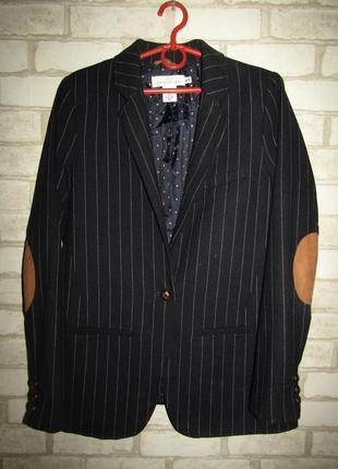 Шикарный пиджак жакет р-р 38-12 шерсть h&m