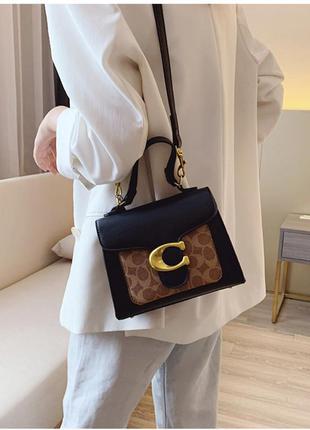 Стильная женская сумка в стиле couch, черная небольшая сумочка
