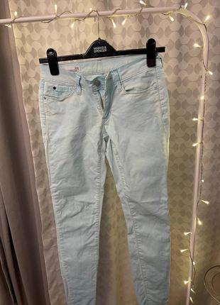 Голубые скинни джинсы gap