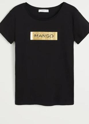 Футболка mango чорна, є дефект*