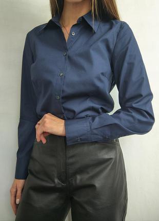 Базовая офисная рубашка хлопковая