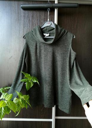 Шикарный свитер кофта, открытые плечи. лёгкий, мягенький. вискоза.