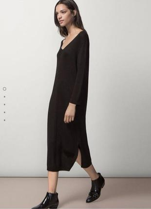 Massimo dutti стильное длинное платье