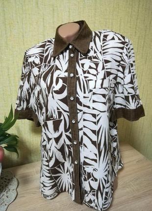 Блуза с коротким рукавом в принт