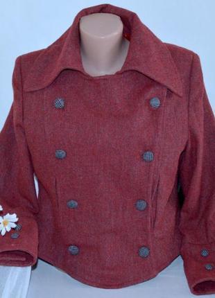 Брендовое демисезонное пальто полупальто куртка косуха sam&diago italy