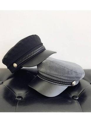 Серый кепи , кепи из фетра, валяная шляпа , осенняя шляпа