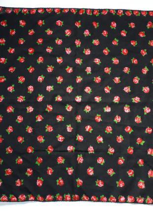 Шерстяная косынка шейная платок (61 см на 57 см)