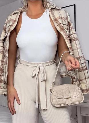 Белый боди топ кроп топ майка футболка маечка блузка рубашка блуза