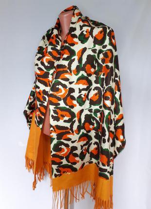 Двухсторонний палантин шарф (67 см на 180 см)