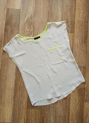 Second female базовая шелковая блуза блузка рубашка /размер м