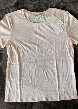 Легкая футболка, хлопковая футболка, нежно розовая футболка, футболка рукава с отворотом.