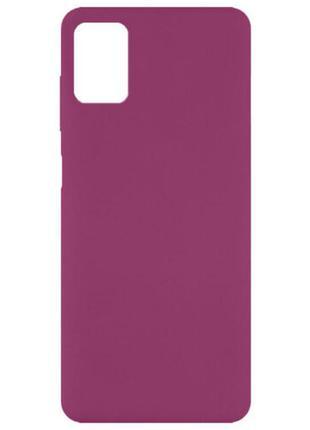 Чехол silicone cover full without logo для samsung galaxy m51 бордовый / marsala