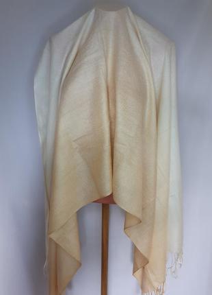 Палантин ,широкий шарф кашемир+ шелк pashmina(180 см на 73 см)